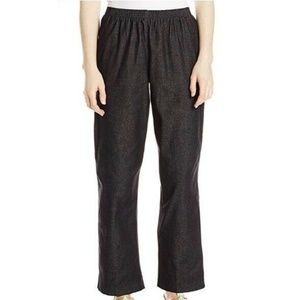 Alfred Dunner 6P Black Pockets Classic Pants 6AS44